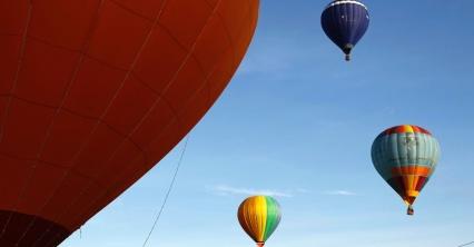 Balões no céu