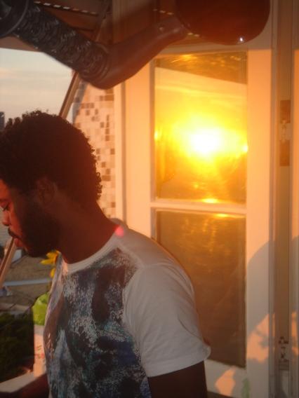 Paulo Sabino ao pôr do sol