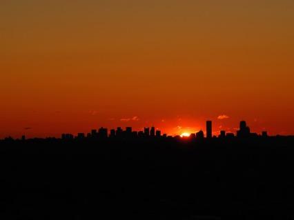 Pôr do sol na cidade