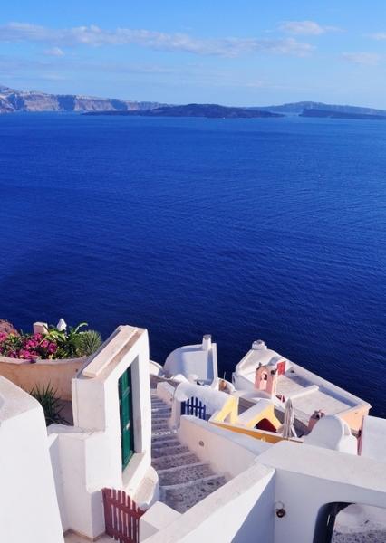 Casa branca & Mar azul