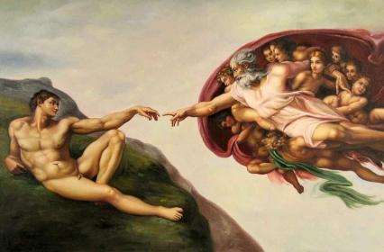 Michelangelo_A criação de Adão