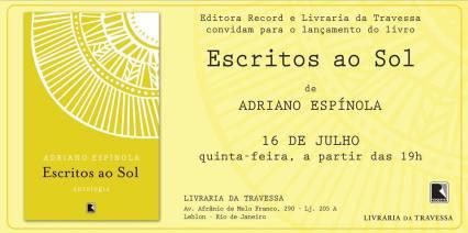 Convite de lançamento_Escritos ao sol_Adriano Espínola