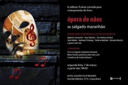 Ópera de Nãos_Salgado Maranhão_Convite Lançamento