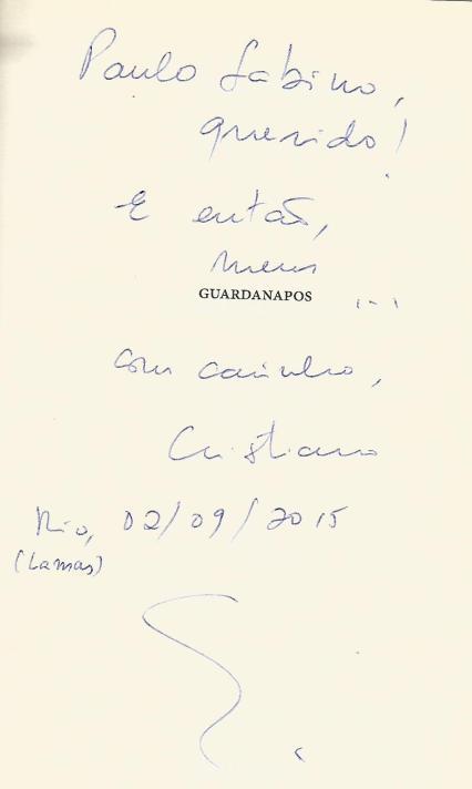 Cristiano Menezes_Dedicatória_Guardanapos